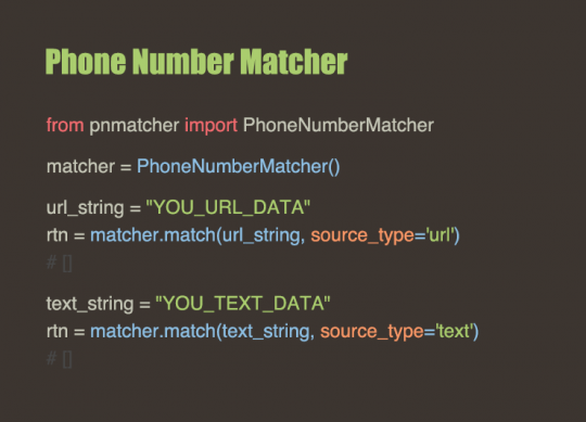 Phone Number Matcher